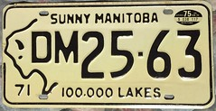 MANITOBA 1975 ---LICENSE PLATE (woody1778a) Tags: manitoba canada licenseplate numberplate registrationplate mycollection myhobby