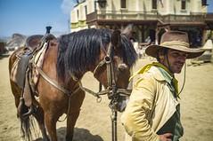 Almeria Far West 2 (Kalinus) Tags: fujifilm x100 western farwest horse cowboy almeria barbershop