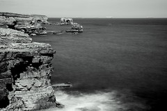 marsden rocks (Twenty-21) Tags: sunderland seascape long exposure monochrome mono black white ten stop filter beach sea shore water waves rocks cliffs north east wearside