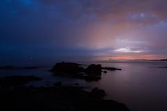 (Nora Picardo) Tags: atlntida uruguay horaazul rocas mar noche