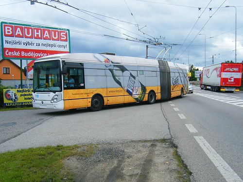 Ceske Budejovice trolleybus No. 71.