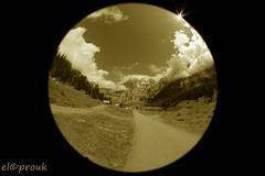 4K2A2536-1 (elcoprouk) Tags: landscape sepia blanc et noir bw black white switzerland outdoor sky lake forest fisheye wideangle canon