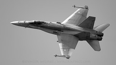 FiAF Hornet Display. (spencer.wilmot) Tags: finnishairforce blackandwhite monochrome militaryaviation malmsltt malmen sweden airdisplay display fighter hornet finnish jet aviation plane airplane aircraft airbase f3 fa18c