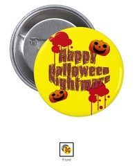 Sold by Zazzle  100% Satisfaction  Made to Order    Happy Halloween Nightmare Pinback Button (HappybeeColorfulLife2016) Tags: zazzle  100 satisfaction made order happy halloween nightmare pinback button halloweenlittlegifts finecustomgifts halloweencrafts pumpkinghostevilysmiling monsterfontmessage onlineshop onlineshops worldwide