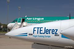 Aer Lingus FTE (13) (crgmry) Tags: aerlingus fte aerlingusfte airbusa320 a320 aeropuertodejerez jerez aeropuerto airport jerezairport flighttrainingeurope da42 diamond diamondda42