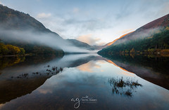 Glendalough sunrise & mist and beautiful reflections (Pastel Frames Photography) Tags: glendalough ireland wicklow water mountain landscape sunrise mist fog reflections sky clouds canon 5d mark 3 nature