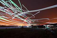 Night Meetup (Miguel_Coelho) Tags: nikond90 lightpainting rc airplane flying night tamron1024mmf3545diiildsp portugal portodems leiria aerodrome runway longexposure lighttrail model rodasnoar
