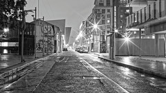 City Street (Dubspotter2015) Tags: black blackandwhite white bw dublin2 dublin grand canal dock ireland night longexposure canon 6d 50mm starlight monochrome