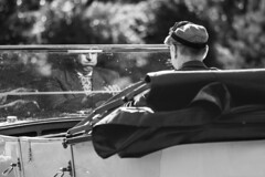 Mouthful of Flies (sawyersource) Tags: people man actor mouth mouthful flies windscreen expression expressions face reflect reflection glass national motor museum beaulieu newforest new forest drive driver driving bokeh bushes blackwhite blackandwhite bw d7200 105mm nikon sigma britain gb uk candid street streetphotography dirty screen past cars car convertible vintage sunroof