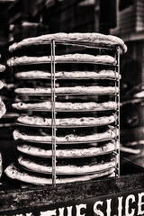 Ten Pies (PAJ880) Tags: boston kitchen pizza ma pies rack slices bw urban city