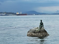 Girl in a Wetsuit - Vancouver (phil_king) Tags: british burrard canada columbia estuary girl harbour inlet monument park sculpture seawall stanley statue vancouver water wetsuit art