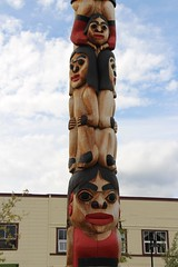 Tlingit Healing Totem Pole (demeeschter) Tags: canada yukon territory river city town street road business shop building capital