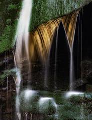 Upon Reflection (Appalachian Hiker) Tags: cascade sunlight stream waterfall moss
