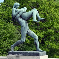 Man Lifting Woman in Front of Himself (Christopher M Dawson) Tags: bronze woman lifting viking baltic scandinavia homelands travel international foreign tourism adventure history scenery art architecture europe ©2016cmdawson nikon norway oslo capital city sculpture vigeland frogner park frognerparken thorsen statue