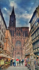 Cathdrale de Strasbourg! (Curious ClickZ of Rezwanul Alam) Tags: sky cathedral christ beautiful roman historic france stracture note4 snapseed strasbourg