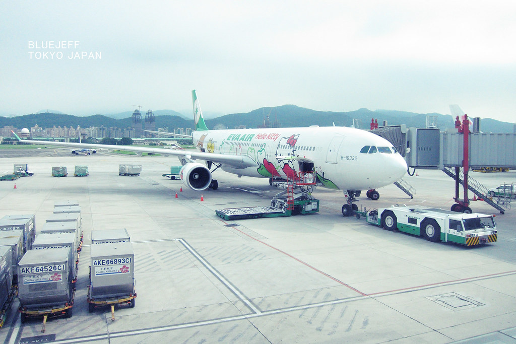 EVA的hello kitty 專機