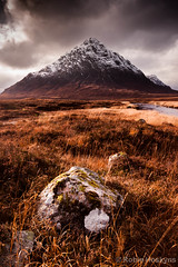 Buachaille Etive Mr ([[BIOSPHERE]]) Tags: mountain snow scotland highlands pyramid heather munros moorland rannochmoor stob dearg buachailleetivemor riveretive