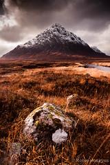 Buachaille Etive Mòr ([[BIOSPHERE]]) Tags: mountain snow scotland highlands pyramid heather munros moorland rannochmoor stob dearg buachailleetivemor riveretive
