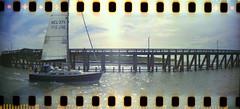 BEL3711 (-justk-) Tags: 35mm boat lomography blankenberge scanned sprockets sailingboat sprocketrocket colornegative400