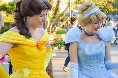 Belle and Cinderella (EverythingDisney) Tags: princess disneyland royal disney resort belle cinderella dlr princesses beautyandthebeast