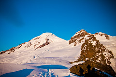 Climbing Mount Baker (Every Day Adventures) Tags: light sun snow man mountains ice nature outdoors unitedstates tent hike glacier alpine backpacking summit wa mountbaker cascade
