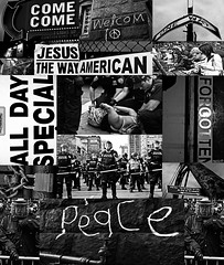 Welcome to American Peace! (EcstaticAperture) Tags: collage media police empire brutality policebrutality aspects spectacle