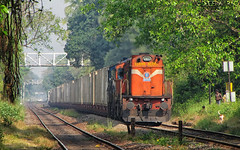 G3A + M3D Container Train (Dheeraj Clickr Rao) Tags: train ir track goa loco transportation locomotive shakti alco madgaon containertrain wdg3a wdm3d suravali
