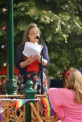 "Poetry Reading<br /><span style=""font-size:0.8em;"">Work created at the creative writing workshop being shared at Pride in the Park<br /></span> • <a style=""font-size:0.8em;"" href=""https://www.flickr.com/photos/66700933@N06/8193135172/"" target=""_blank"">View on Flickr</a>"
