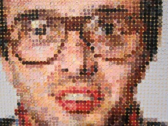 Chuck Close: Mark, at Pace (Scoboco) Tags: chelsea pace gothamist chuckclose chelseaartgallery pacegallery nycartgallery