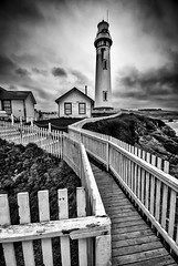 Pigeon Point Lighthouse (TroyMasonPhotography) Tags: california vacation bw santacruz lighthouse clouds coast hostel roadtrip highway1 walkway halfmoonbay highway101 pigeonpoint pescadero 2010 coasthighway troymasonphotographycom troymasonphotography