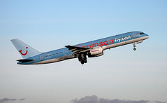 Thomson 757 G-BYAT (ray_finkle) Tags: atc airport birmingham aircraft aviation air thomson boeing airports airlines 757 birminghamuk departing egbb