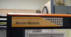 Nameplate on Work Station