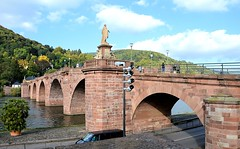 Heidelberg: Old Bridge over Neckar River (Pat's Pics36) Tags: bridge germany bricks arches heidelberg neckarriver rhinecruise swisstrip nikond7000 nikkor18to200mmvrlens