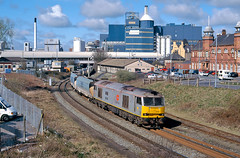 60006 'Scunthorpe Ironmaster' Bank Quay low level 3rd April 2003 (John Eyres) Tags: liverpool warrington bank quay coal scunthorpe corus fidlers ironmaster 60006