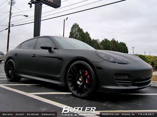 Black Panamera With Black Rims Matte Black Porsche Panamera