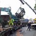 Lkw bleibt an Brücke hängen Flachstraße 24.11.12