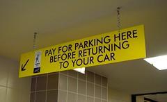 Parking Structure Signage
