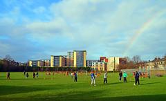 Football Crazy (Gaz-zee-boh) Tags: london football rainbow soccer municipalpark tufnellpark studentaccommodation londonist publicpark almostanything campdaleroad tufnellparkplayingfields campdalerd n70ed metropolitanuniversityhallsofresidence