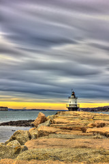 Lighthouse Magi (Jack Deem) Tags: ocean sunset lighthouse water rocks magic hdr jeti magi