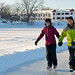 Patinage en couple au Manoir du lac William