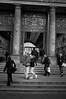 Csókszünet - Break for a kiss (SpeNoot) Tags: street bw station stairs kiss couple budapest railway teen rush nocrop keleti keletipu pár csók lépcső ifjú ifjúság rohanás