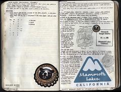 147-148 (The Hike Guy) Tags: moleskine watercolor journal moleskinerie sierranevadamountains notebookism kolbykirk