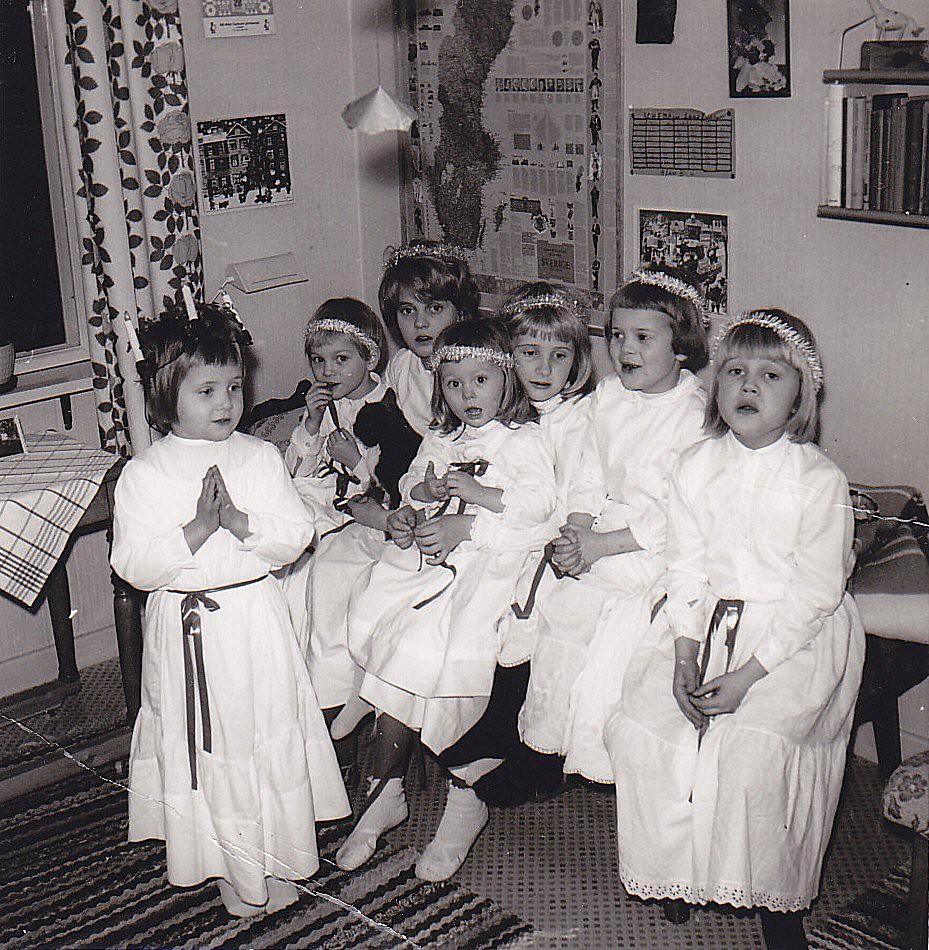 Lucia Ydrehammar 1965 Sweden Ankar60 Tags Christmas Old Girl Kids Barn Vintage Children