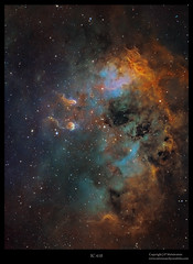 A cosmic fertilization (J-P Metsavainio) Tags: stars ic colorful space nebula astronomy diffuse emission 410 cygnus starfield auriga nebulae veilnebula snr supernovaremnant qhy9