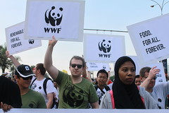 WWF at Doha NGO march