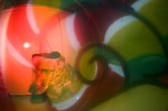 #326 ([ iany trisuzzi ]) Tags: streetart film analog 35mm analógica doubleexposure fisheye multipleexposure olympustrip35 day326 fisheye2 project365 365days