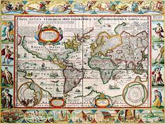 Antique Maps (divinumphoto) Tags: map theamericas antiquemapsoftheworld pietervandenkeere c1628