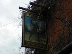 GOC Sandridge to Harpenden 191: Green Man (Peter O'Connor aka anemoneprojectors) Tags: sign pub ph hertfordshire greenman pubsign publichouse pubmaster sandridge goc gayoutdoorclub z981 gocsandridgetoharpenden