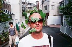 green-tea party (JoelOlex) Tags: portrait leaves japan tokyo fuji pointandshoot chrisfitz