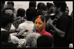 SILENT DEVOTION (Sam Gupta Photography) Tags: orange india black canon silent traditional prayer devotion editing custom kolkata puja selective westbengal bihar chatth canoneos60d canonefs18200mmis samguptaphotography